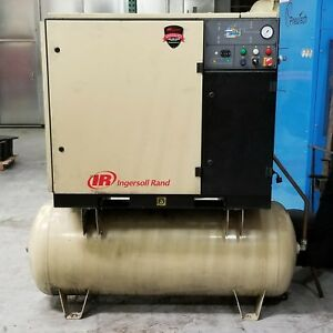 Used Ingersoll Rand Rotary Screw Air Compressor 30 Hp 230 480 Volt 21k Hours