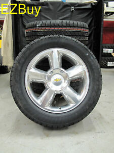 20 Suburban Tahoe Factory Polished Wheels Goodyear Tires 5308 Comleate New Set
