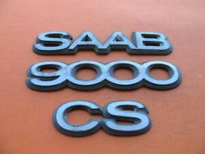 93 94 95 96 97 98 Saab 9000 Cs Rear Lid Emblem Logo Badge Sign Oem Used Set