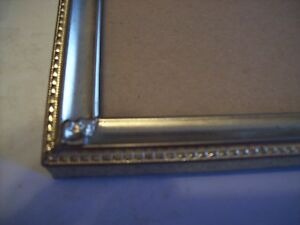 Vintage Gold Brass Embossed Metal 8x10 Picture Frames Ornate Corners Almost Perf