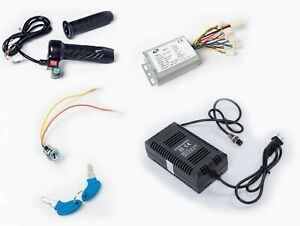 500w 24v Reverse Controller keylock charger throttle W Switch F Brushed Dc Motor