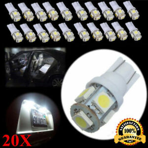 20x T10 5050 W5w 5 Smd 194 168 Led White Car Side Wedge Tail Light Lamp Hot