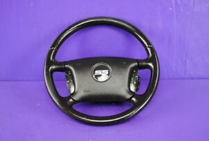 06 08 Chevy Impala Ss Steering Wheel Mounted Horn Button Black Leather Oem