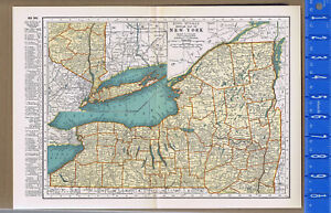 New York United States 1933 Color Map