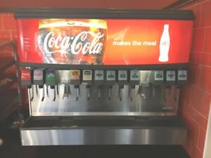 Beverage Soda Dispenser By Lancer 12 Flavors W Ice Dispenser