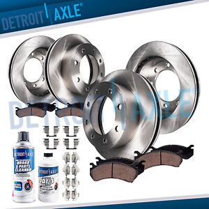 2001 2010 Silverado Sierra 2500 3500 Hd Front Rear Brake Rotors Ceramic Pads