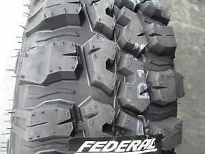 4 New 235 75r15 Inch Federal Mud Tires 235 75 15 2357515 75r R15 M T Mt