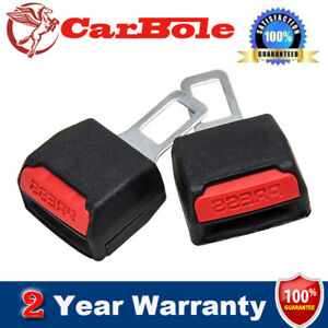 2pcs Car Safety Seat Belt Buckle Extension Extender Clip Alarm Stopper Durable