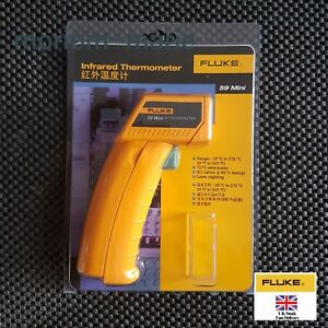 New Fluke 59 Mini Laser Ir Infrared Thermometer Gun 0 525f Temperature Tester