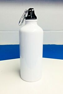 60pcs Blank Coated Sublimation 600ml Aluminium Water Bottle white Sublimation