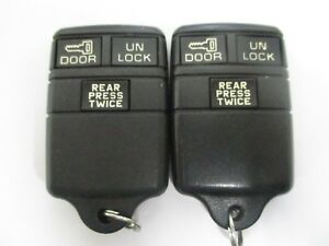 Lot Of 2 Chevy Gmc 3 Button Keyless Entry Remote Fob Fobs Transmitter 15731442