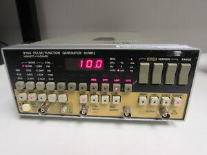 Agilent Hp 8116a Programmable Pulse function Generator 1 Mhz 50 Mhz Opt 001
