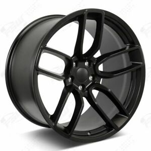 20 Flow Forged Satin Black Wheels Fits Hellcat Challenger Charger 300c 24lbs
