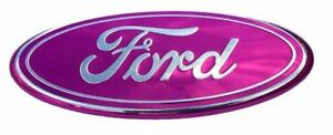 Pink 2005 2014 Ford F150 Front Grille Tailgate 9 Inch Oval Emblem 1 Pc