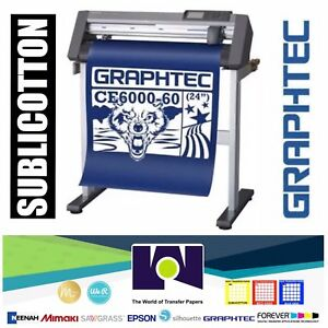Bundle 24 Graphtec Ce6000 60 Plus Vinyl Cutter plotter Sublicotton 24 x50