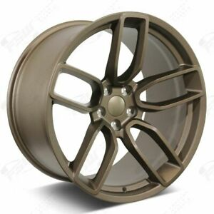 20 Flow Forged Bronze Wheels Fits Hellcat Challenger Charger 300c 24lbs