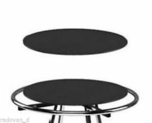 30 Wood Topper For Round Clothing Display Rack Black