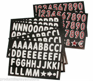 314 4 Replacement Letters Numbers Kit For Black Message Board Sidewalk Sign