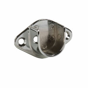 Pack Of 100 Open Flange For 1 Round Tubing Hangrail Wall mount Bracket