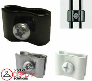 Pack Of 100 Gridwall Panel Connector Black White Or Chrome