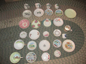 Collection Antique Tea Coffee Collectible Cup Saucer Plate Americana