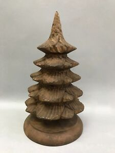 Carved Wood Christmas Tree Papermache Mold