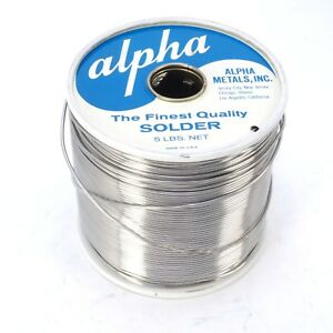Alpha Metals 5lb Spool Of Energized Rosin Solder 60sn 40pb 050 Diam
