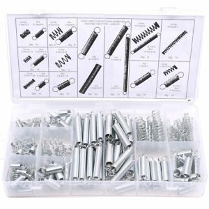 Glarks 200pcs Zinc Plated Extension And Compression Industry Spring Assortmen