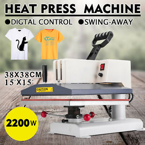 Digital Heat Press Machine 15 x15 Transfer Large Size Plate Printer 0 999s