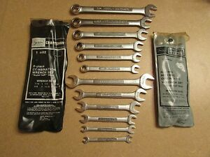Lot Craftsman 6 Pc Sae 6 Pc Metric Wrenches with Original Packages 12 Total ec
