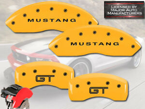 2005 2009 Ford Mustang Gt Base Front Rear Ylw Mgp Brake Disc Caliper Covers