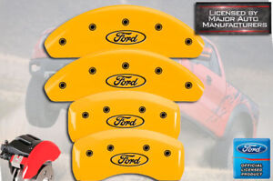 2002 2003 2004 Ford Focus Svt Front Rear Yellow Mgp Brake Disc Caliper Covers