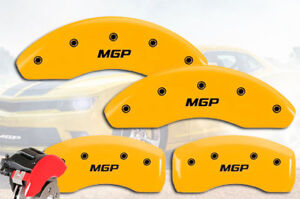 2002 2004 Ford Focus Svt Front Rear Yellow Mgp Brake Disc Caliper Covers 4pc
