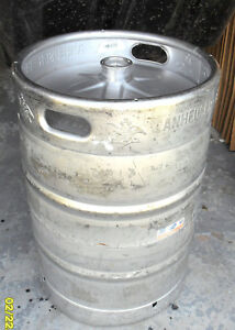 1 2 Barrel Used Empty Beer Keg Stainless Steel 15 5 Gallon Budweiser