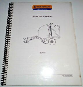 New Holland Bu7060 Round Baler Operators Owners Manual 4 10 Nh Oem