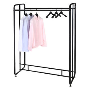55 inch Black Metal Commercial Dual sided Garment Rack Retail Clothing Display