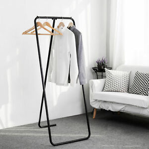Black Metal A frame Garment Display Rack Industrial Retail Clothing Stand
