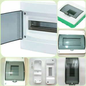 Electrical Box For Circuit Breakers Pole n din Rail Plastic Transparent Cover