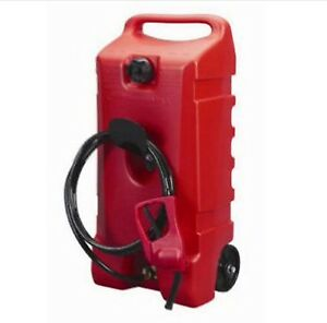 Portable Fuel Container Gasoline Tank Pump Transfer Caddy Gas Hose Dispenser