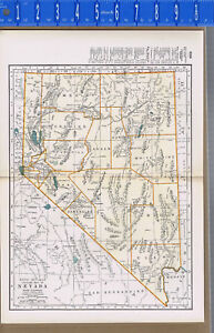 Nevada United States 1933 Color Map