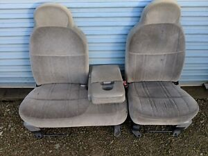 1998 Ford F 150 F150 Pick Up Truck 60 40 Split Bench Seat Grey Cloth Manual