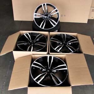 Fits Bmw 1 2 3 4 Series 328 330 335 M3 19 Inch M Style Wheels Black Machined
