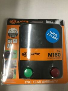 New Gallagher M160 Fence Energizer 30 Miles 100 Acres 1 6 Joules Free Shipping
