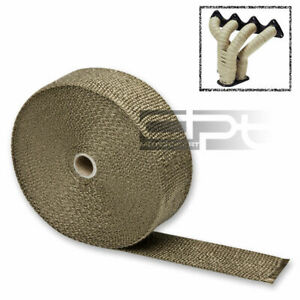 50mm 1 6mm 15m 50 Titanium Header Exhaust Turbo Intake Manifold Heat Wrap Roll