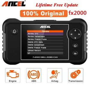 Ancel Fx2000 Obdii Diagnostic Tool Scanner Engine Transmission Abs Srs Airbag