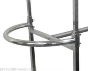 Half Round Add on Hang rail For Double Rail H Rack Set Of 2