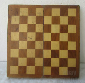 11 Antique Vintage Wooden Checkerboard Game Board Box Chess Backgammon