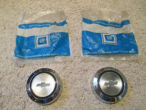 2 Nos Chevrolet Motor Division Rally Wheel Center Caps Ralley Rim Cap 3964515