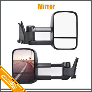 Pair Power Tow Mirrors For 1988 1998 Chevy gmc C10 C k 1500 Pickup Truck 88 98