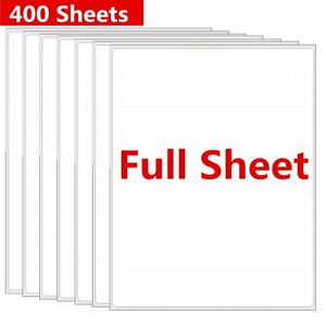 400 Full Sheet Shipping Mailing Labels 8 5 X 11 Permanent Adhesive Laer Inkjet